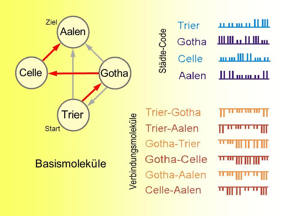 Trier Basismoleküle Aalen Celle Gotha Städte-Code Verbindungsmoleküle
