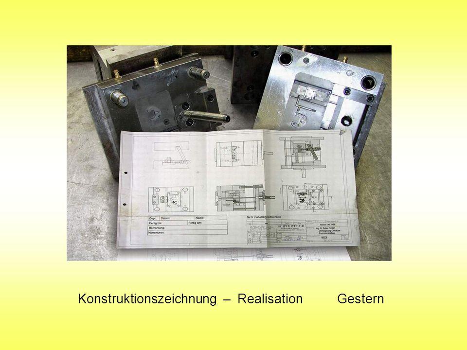 Konstruktionszeichnung – Realisation Gestern