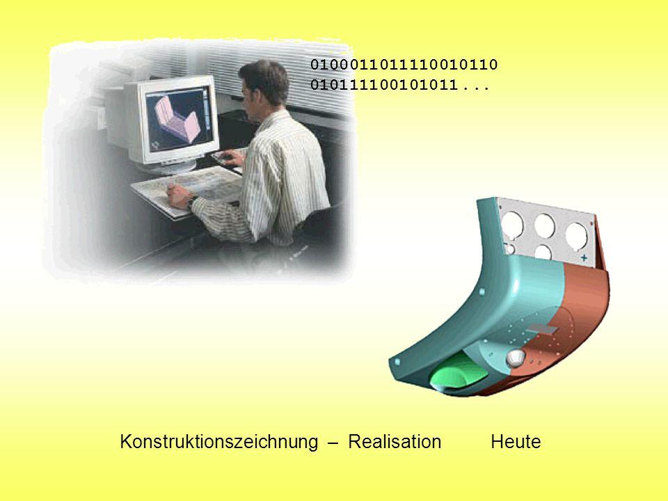 Konstruktionszeichnung – Realisation Heute