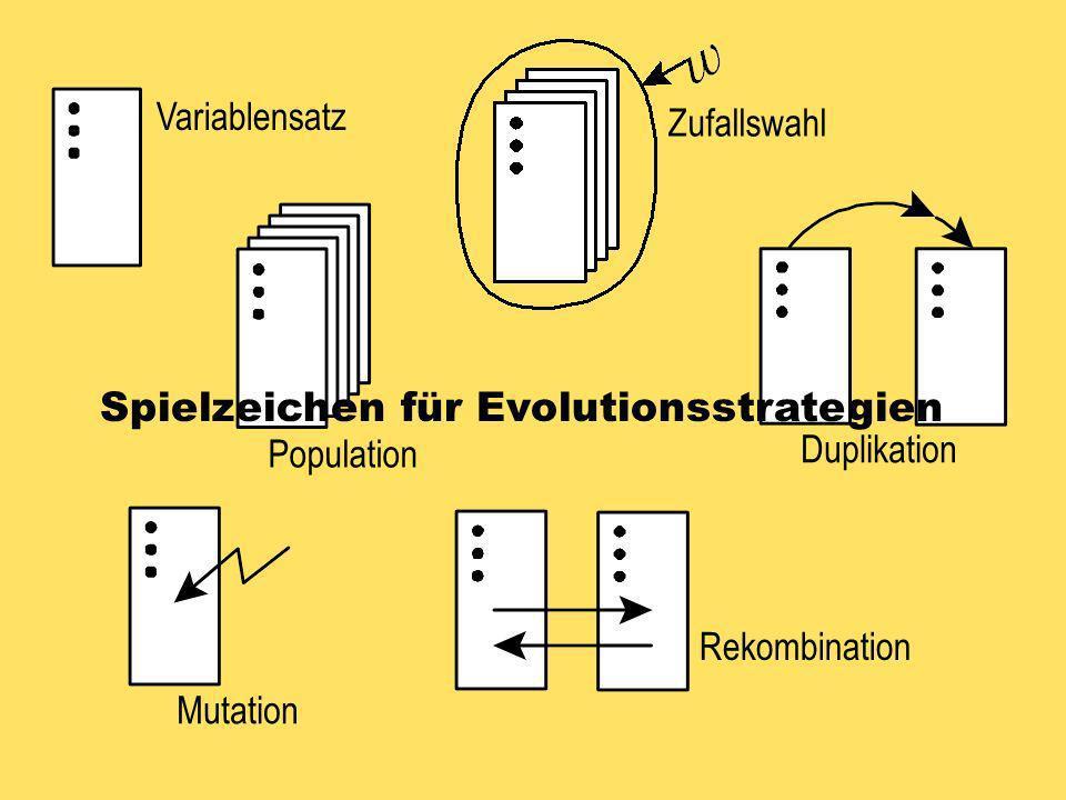 Spielzeichen für Evolutionsstrategien