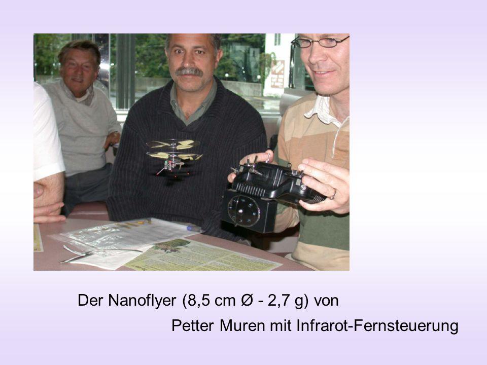 Der Nanoflyer (8,5 cm Ø - 2,7 g) von