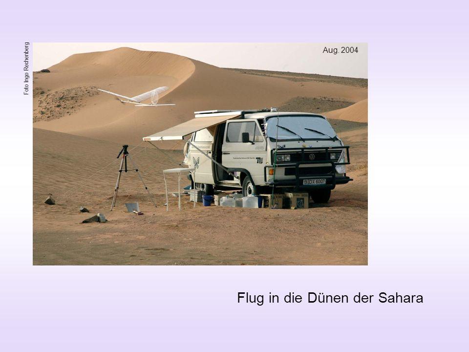 Flug in die Dünen der Sahara