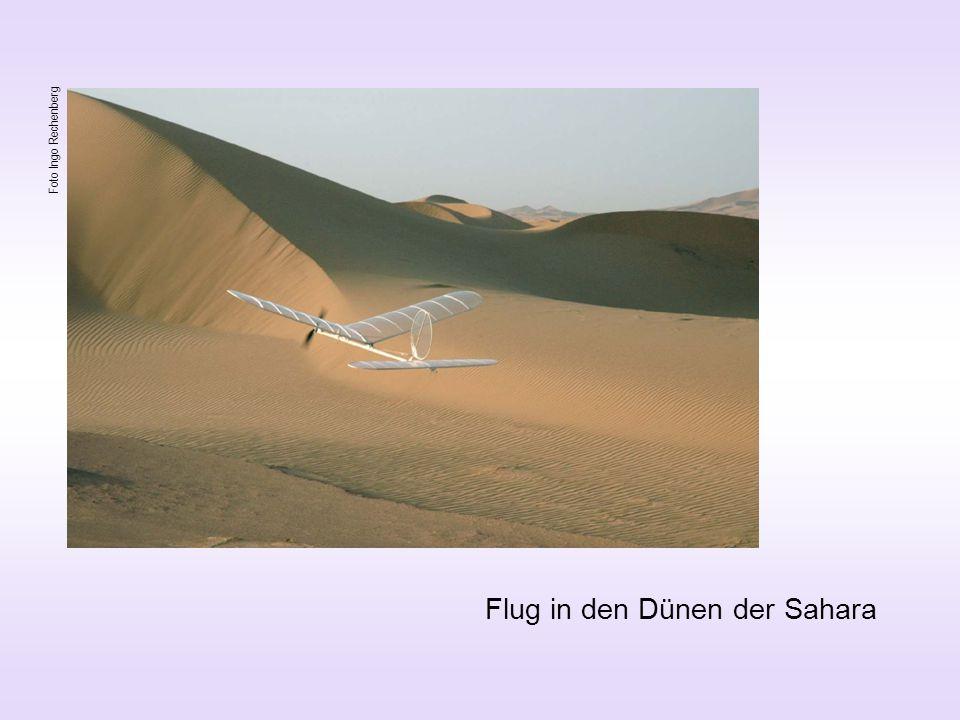 Flug in den Dünen der Sahara