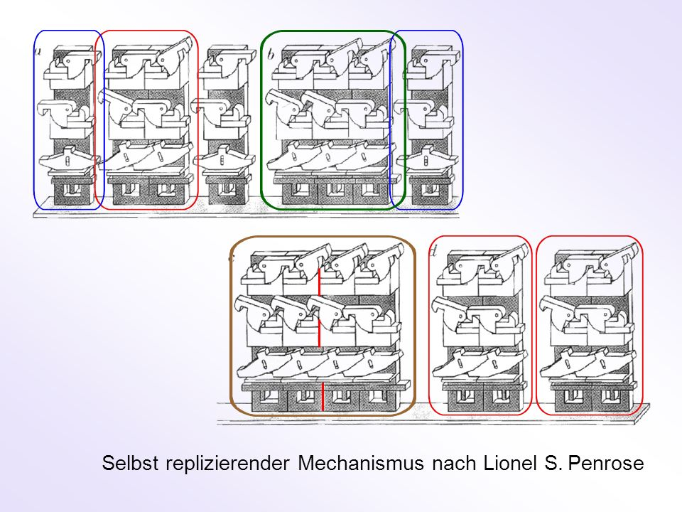 Selbst replizierender Mechanismus nach Lionel S. Penrose