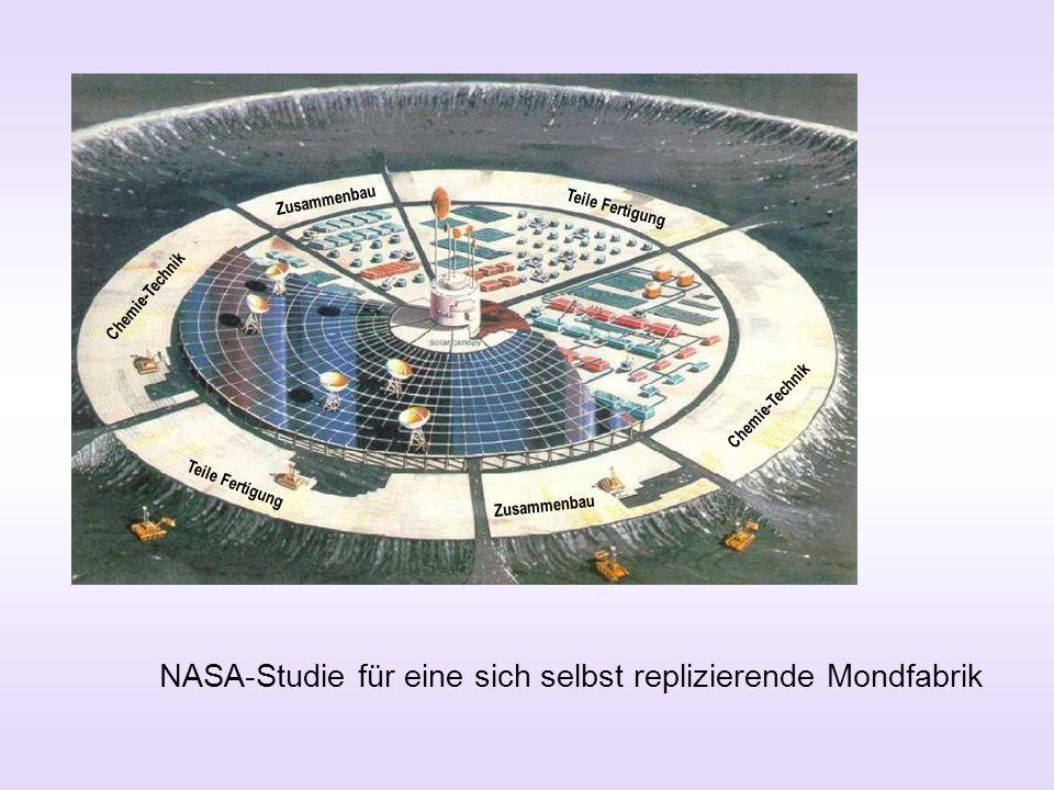 NASA-Studie für eine sich selbst replizierende Mondfabrik