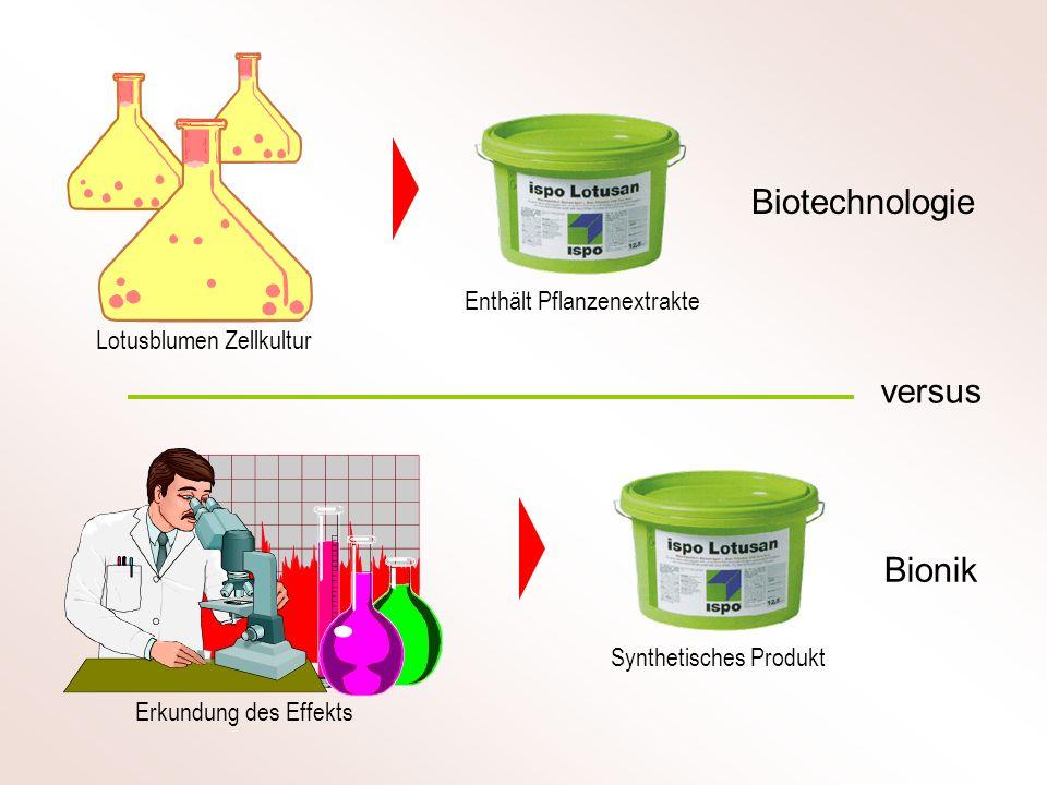 Biotechnologie versus Bionik Enthält Pflanzenextrakte