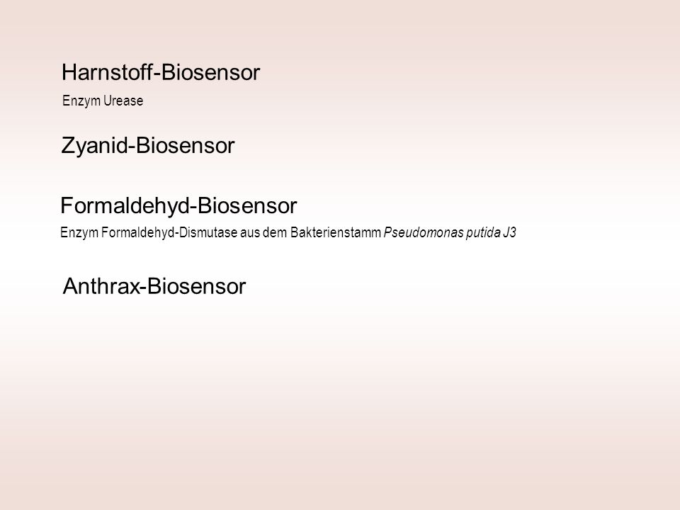 Formaldehyd-Biosensor