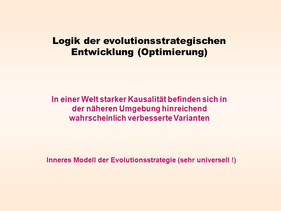Logik der evolutionsstrategischen Entwicklung (Optimierung)