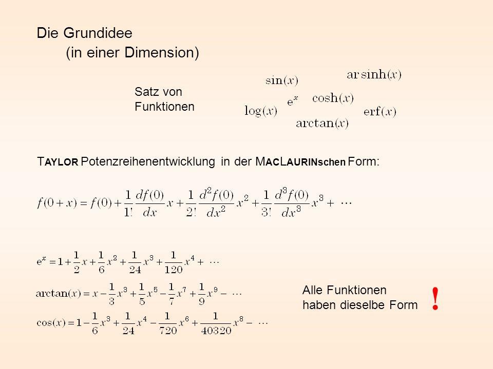 ! Die Grundidee (in einer Dimension) Satz von Funktionen