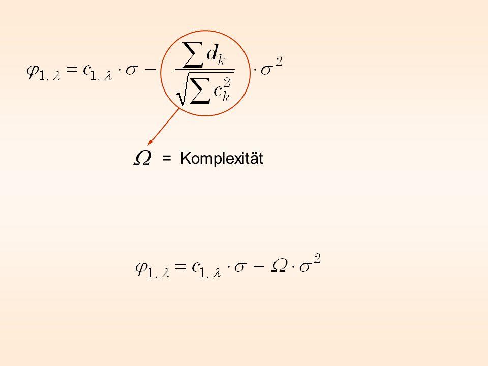 W = Komplexität