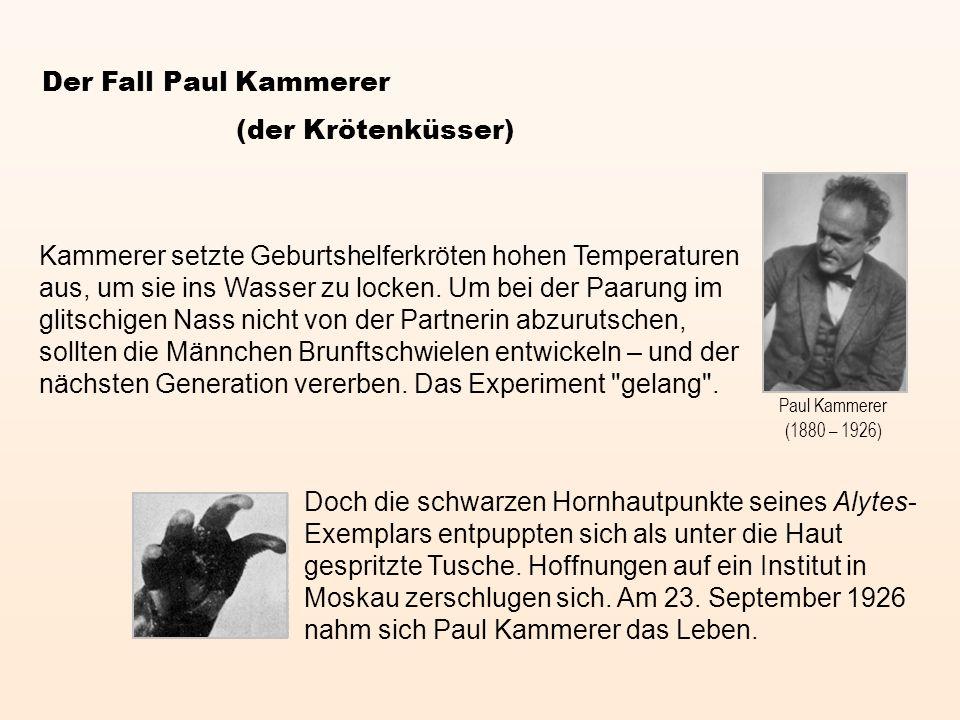 Der Fall Paul Kammerer (der Krötenküsser)