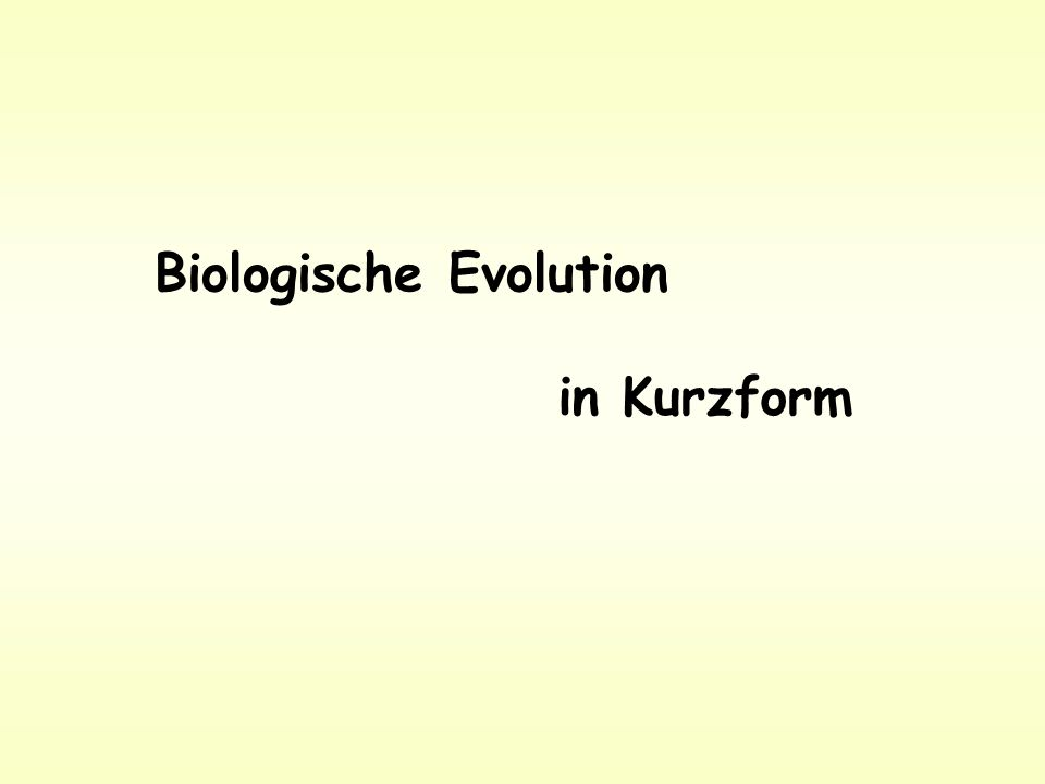 Biologische Evolution