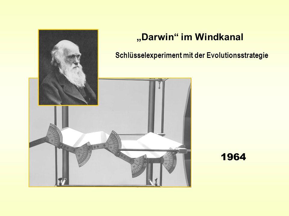 """""""Darwin im Windkanal Schlüsselexperiment mit der Evolutionsstrategie 1964"""