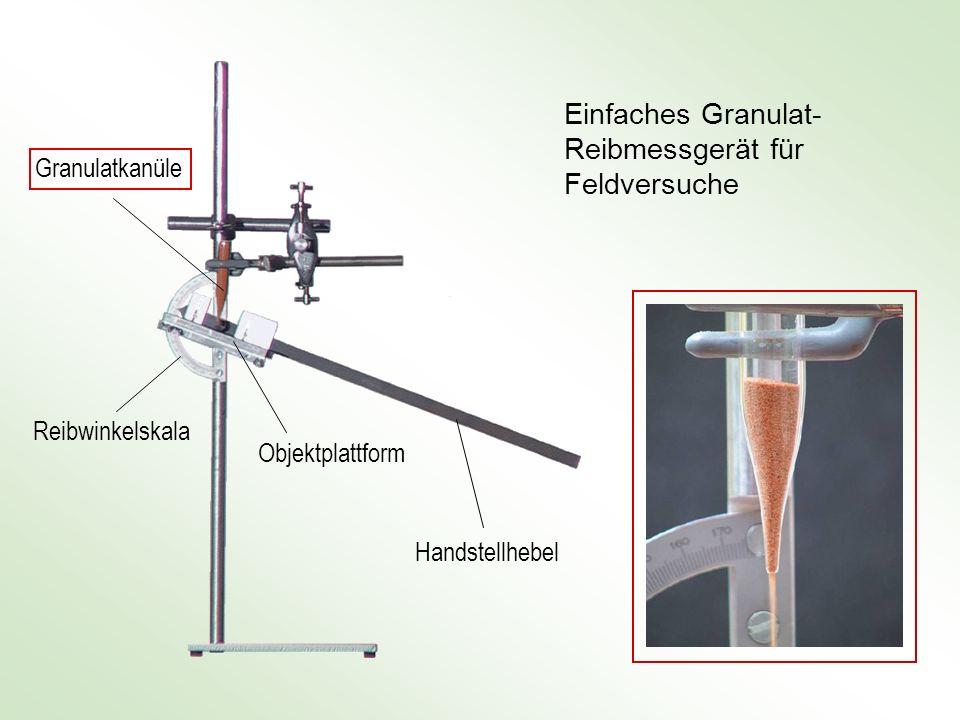 Einfaches Granulat-Reibmessgerät für Feldversuche