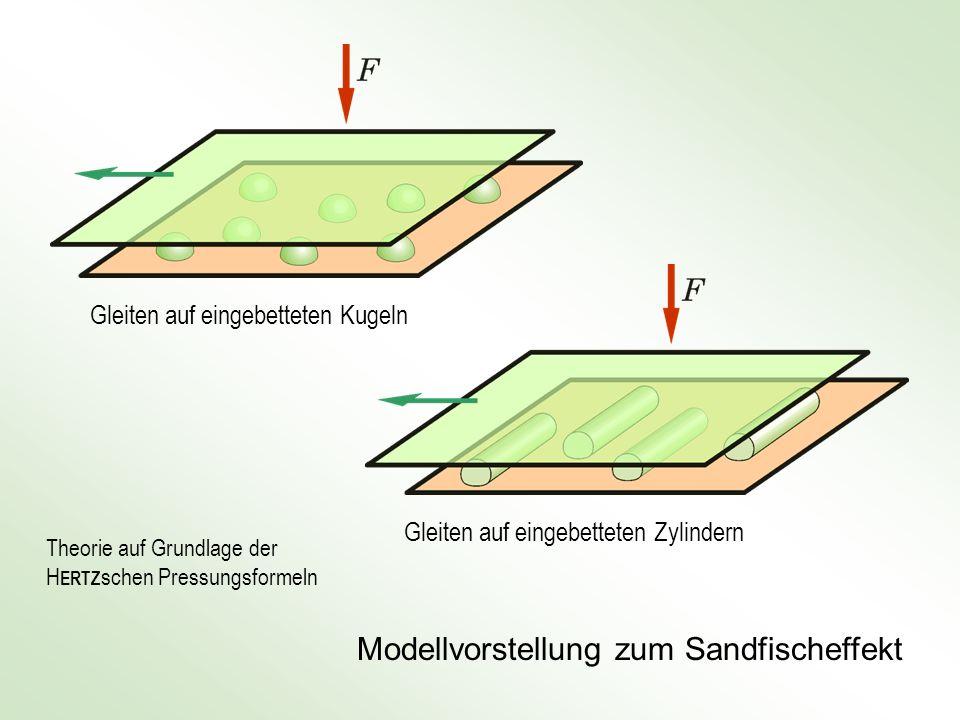Modellvorstellung zum Sandfischeffekt