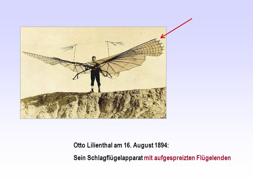 Otto Lilienthal am 16. August 1894: