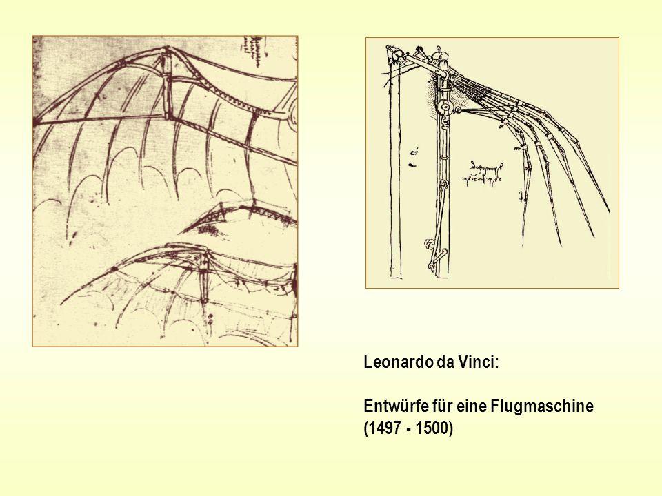 Leonardo da Vinci: Entwürfe für eine Flugmaschine (1497 - 1500)