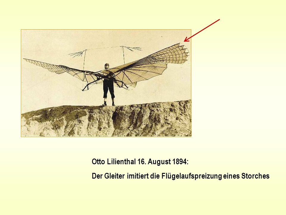 Otto Lilienthal 16. August 1894: