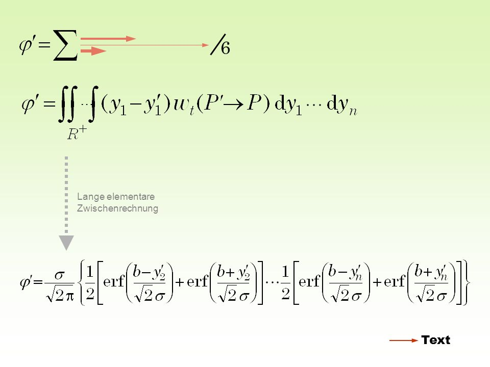 6 … Lange elementare Zwischenrechnung Text