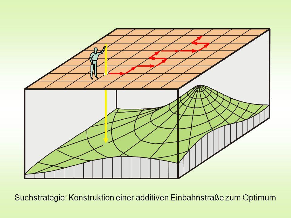 Suchstrategie: Konstruktion einer additiven Einbahnstraße zum Optimum
