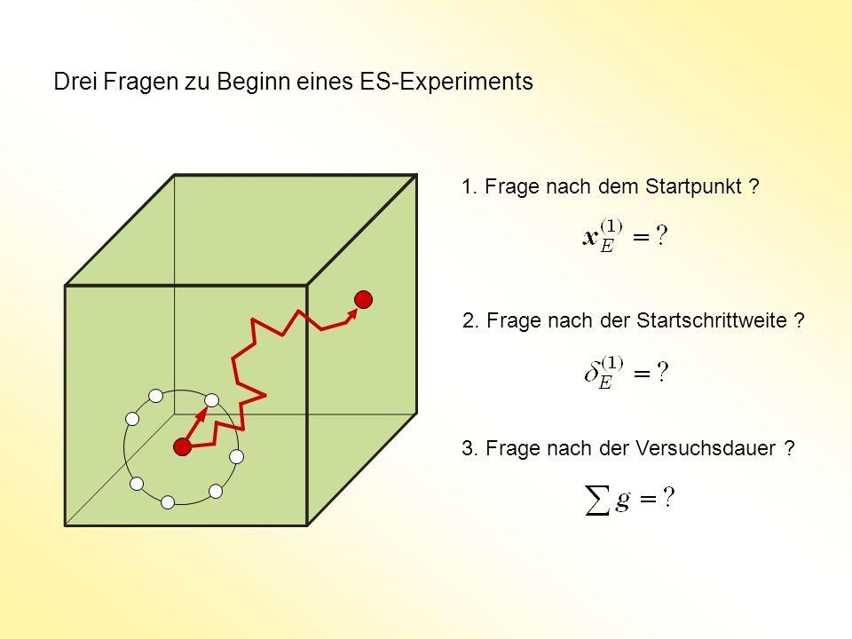 Drei Fragen zu Beginn eines ES-Experiments