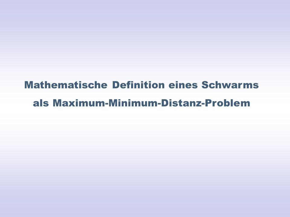 Mathematische Definition eines Schwarms