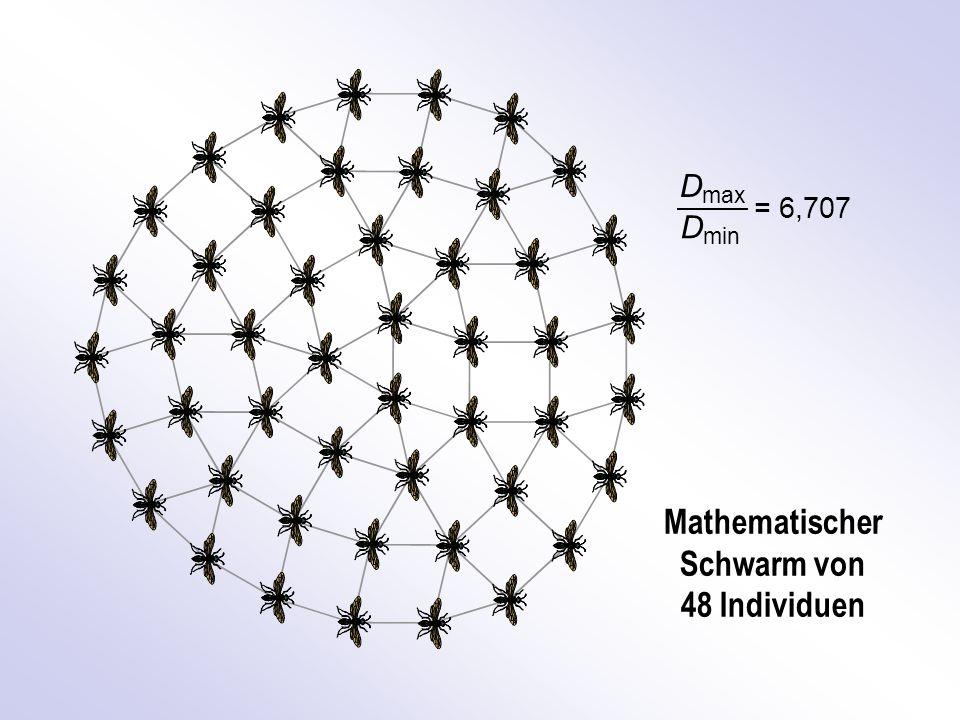 Mathematischer Schwarm von 48 Individuen