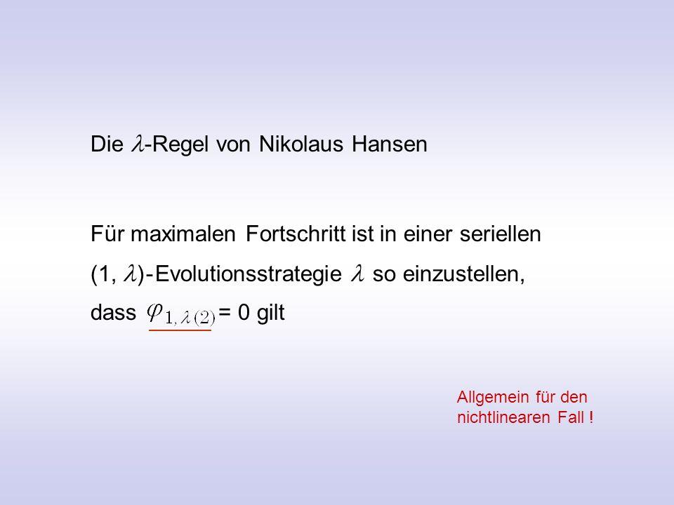 Die l-Regel von Nikolaus Hansen