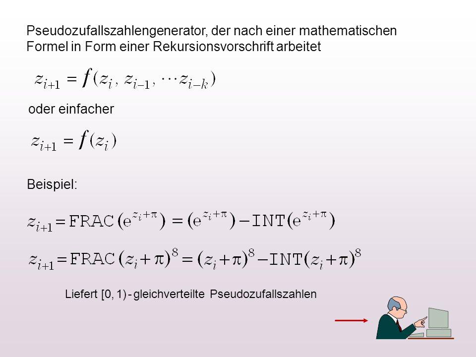 Pseudozufallszahlengenerator, der nach einer mathematischen Formel in Form einer Rekursionsvorschrift arbeitet