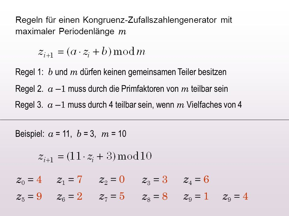 z0 = 4 z1 = 7 z2 = 0 z3 = 3 z4 = 6 z5 = 9 z6 = 2 z7 = 5 z8 = 8 z9 = 1