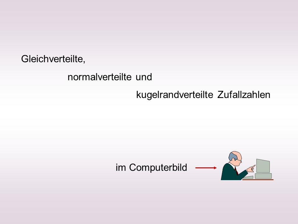 Gleichverteilte, normalverteilte und kugelrandverteilte Zufallzahlen im Computerbild