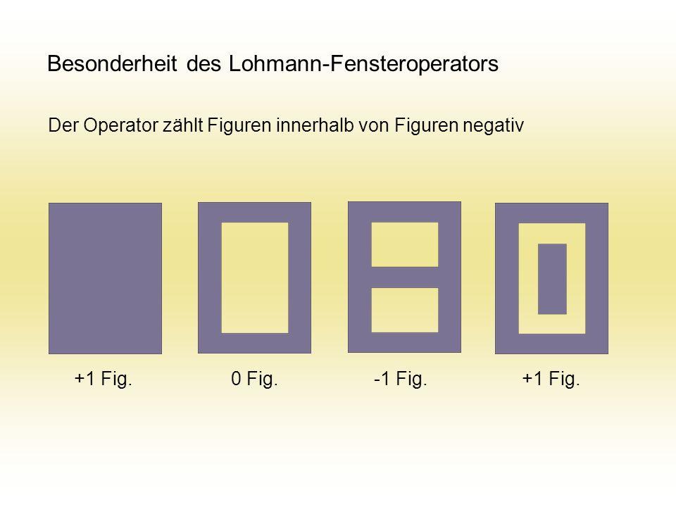 Besonderheit des Lohmann-Fensteroperators