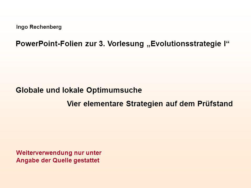 "PowerPoint-Folien zur 3. Vorlesung ""Evolutionsstrategie I"