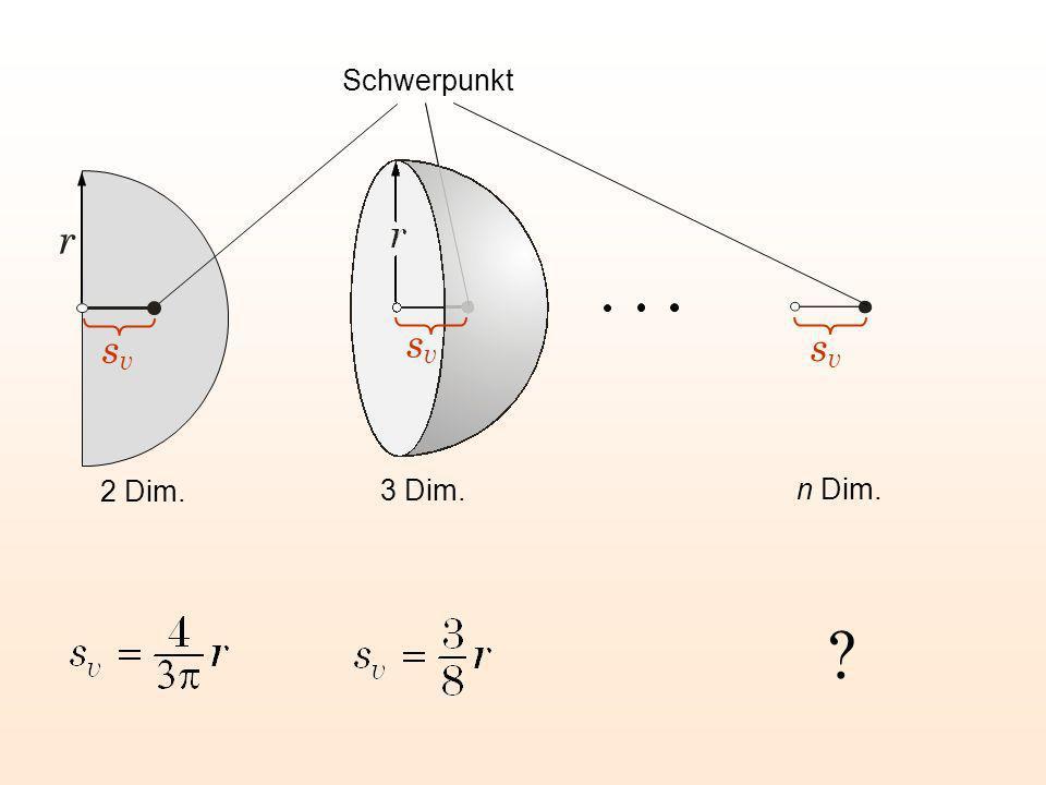 Schwerpunkt r sv sv sv 2 Dim. 3 Dim. n Dim.