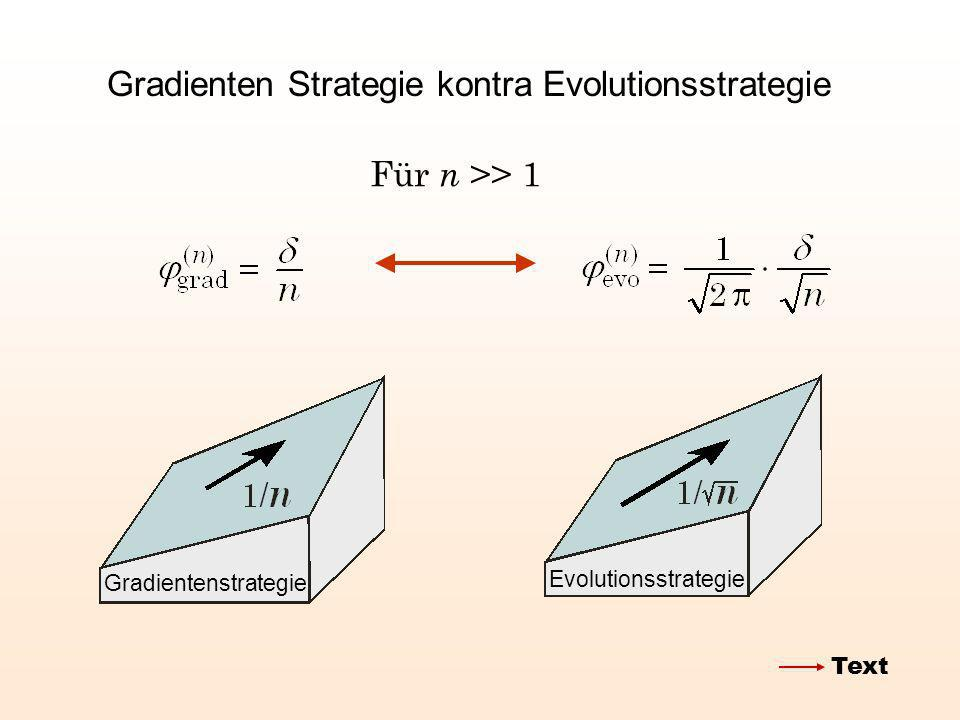 Gradienten Strategie kontra Evolutionsstrategie