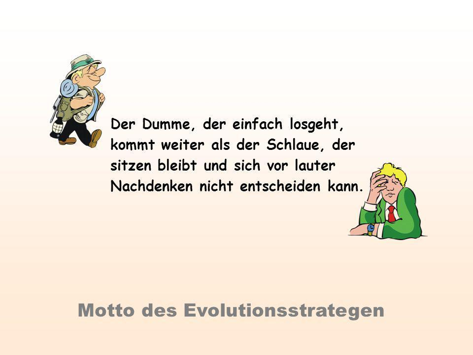 Motto des Evolutionsstrategen