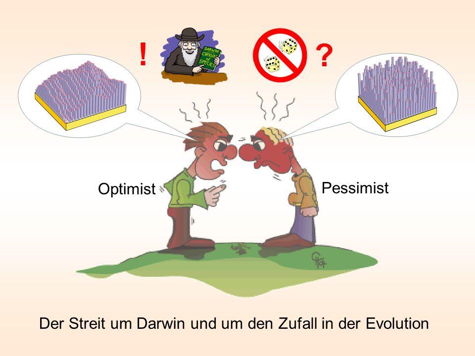 ! Optimist Pessimist Der Streit um Darwin und um den Zufall in der Evolution