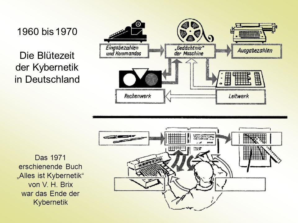 Die Blütezeit der Kybernetik in Deutschland