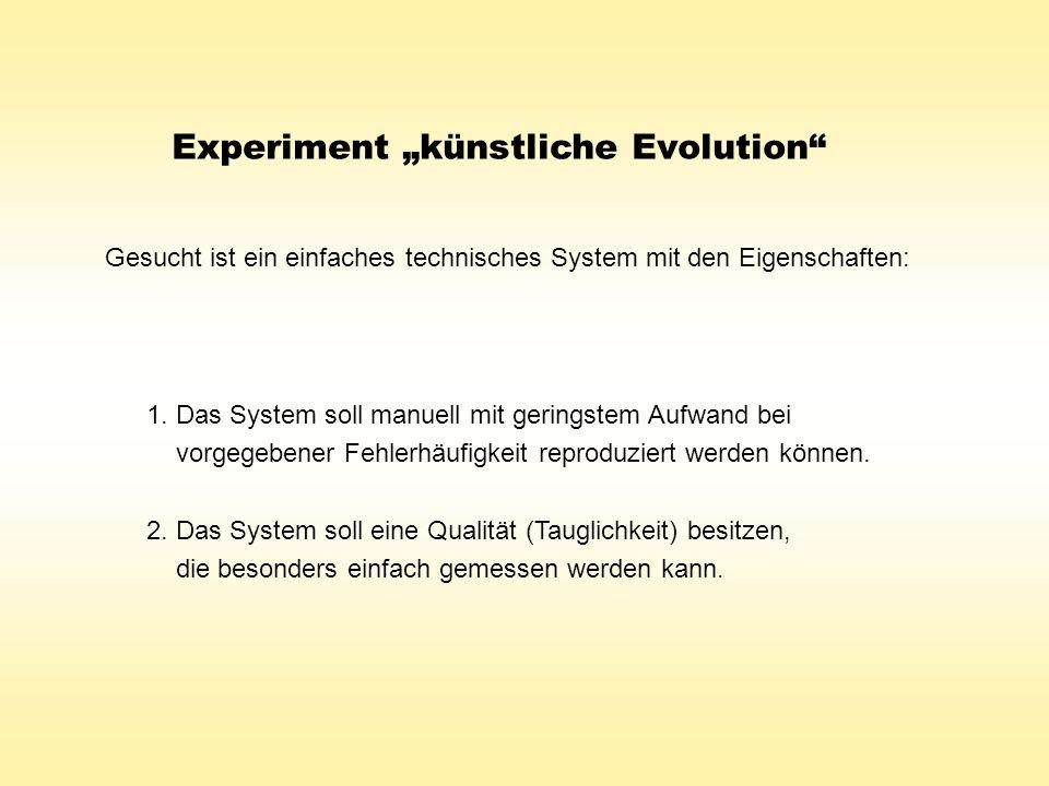 """Experiment """"künstliche Evolution"""