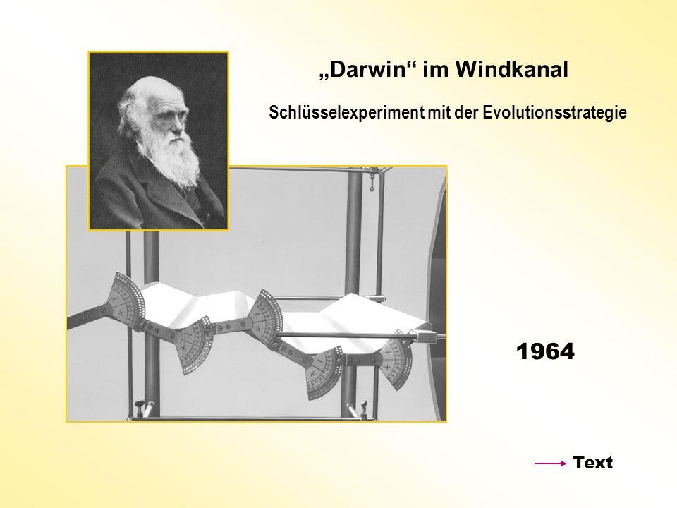 """""""Darwin im Windkanal Schlüsselexperiment mit der Evolutionsstrategie 1964 Text"""
