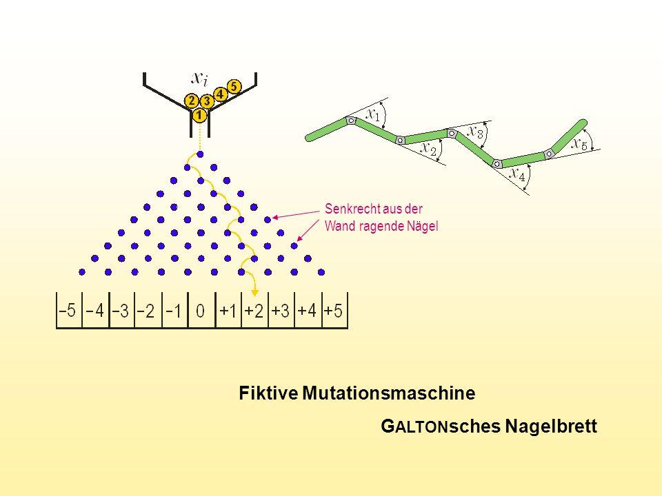 Fiktive Mutationsmaschine GALTONsches Nagelbrett
