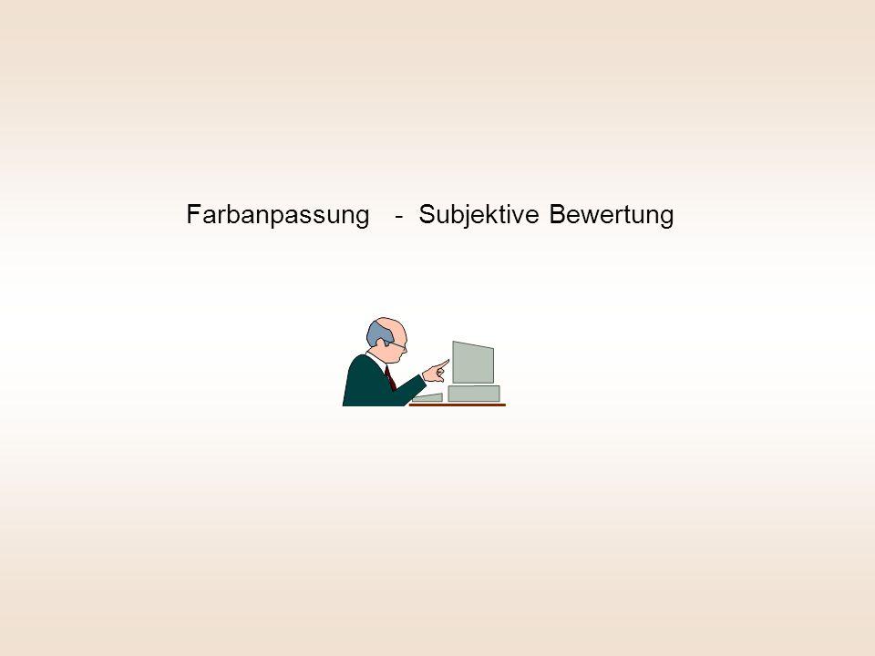 Farbanpassung - Subjektive Bewertung