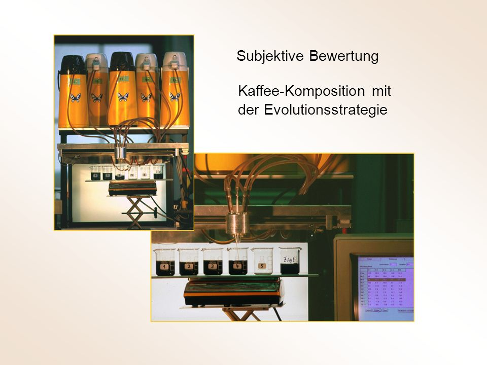 Subjektive Bewertung Kaffee-Komposition mit der Evolutionsstrategie