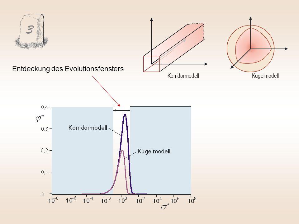 3 Entdeckung des Evolutionsfensters Korridormodell Kugelmodell