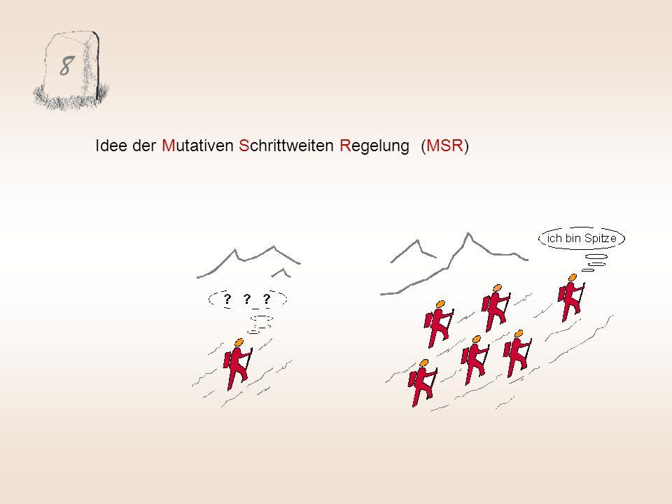 8 Idee der Mutativen Schrittweiten Regelung (MSR)