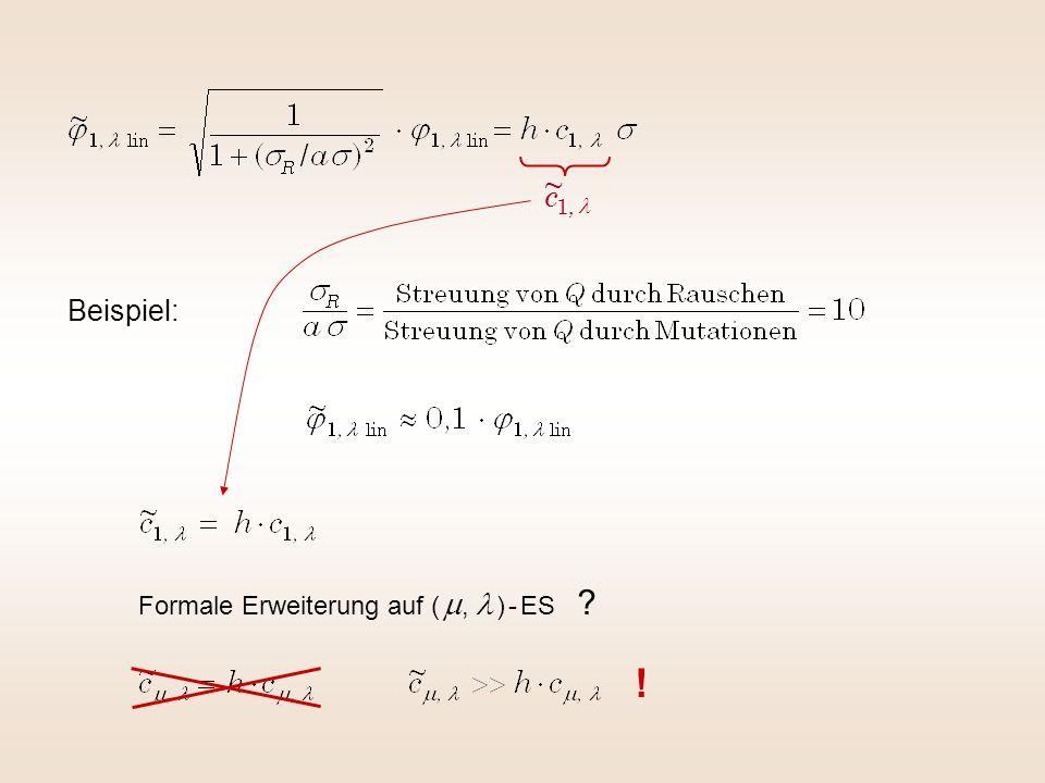 l , 1 ~ c Beispiel: Formale Erweiterung auf ( m, l ) - ES !