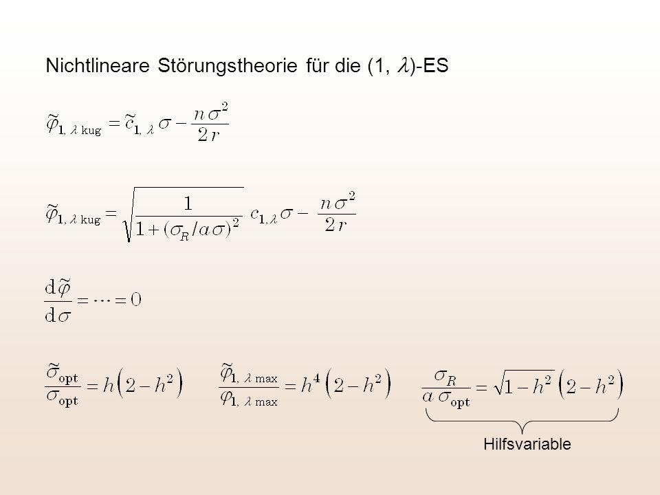 Nichtlineare Störungstheorie für die (1, l)-ES