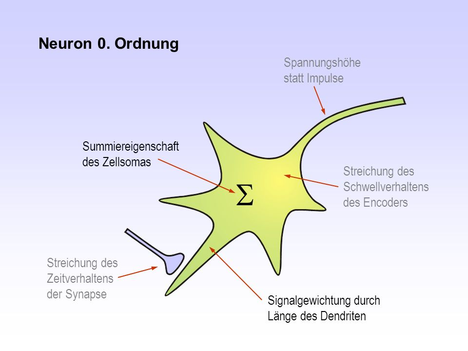 S Neuron 0. Ordnung Spannungshöhe statt Impulse