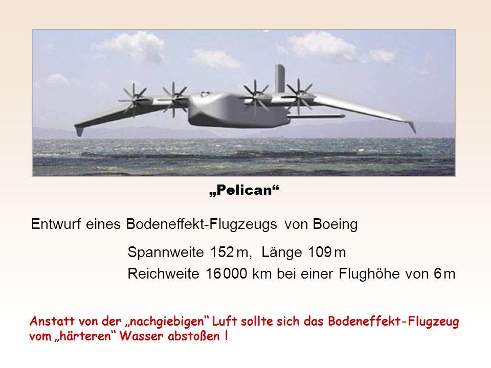 Entwurf eines Bodeneffekt-Flugzeugs von Boeing