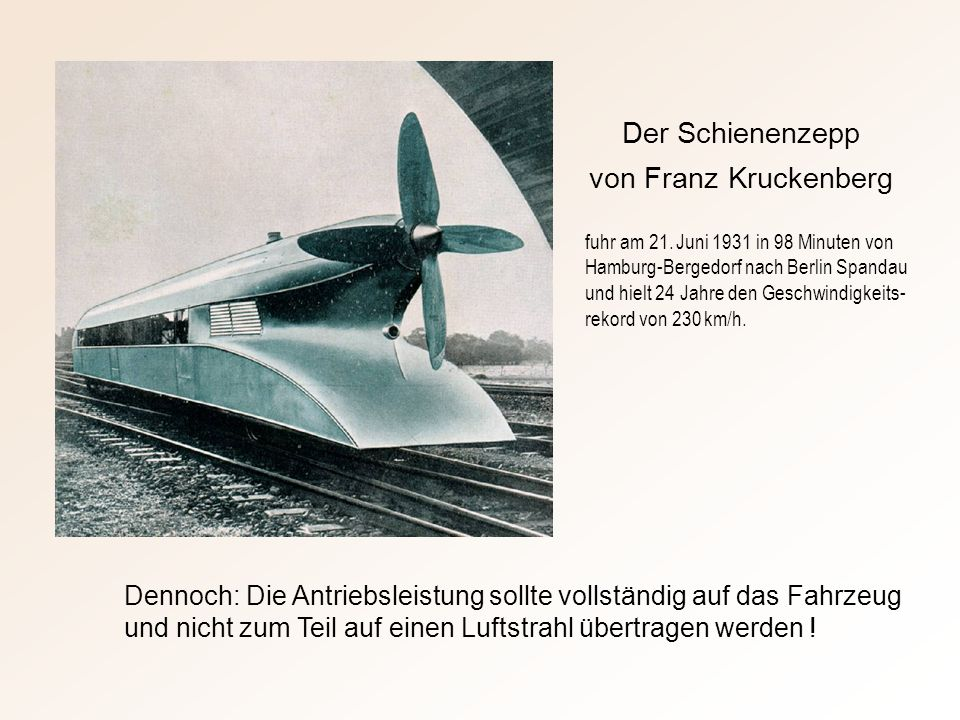 Der Schienenzepp von Franz Kruckenberg